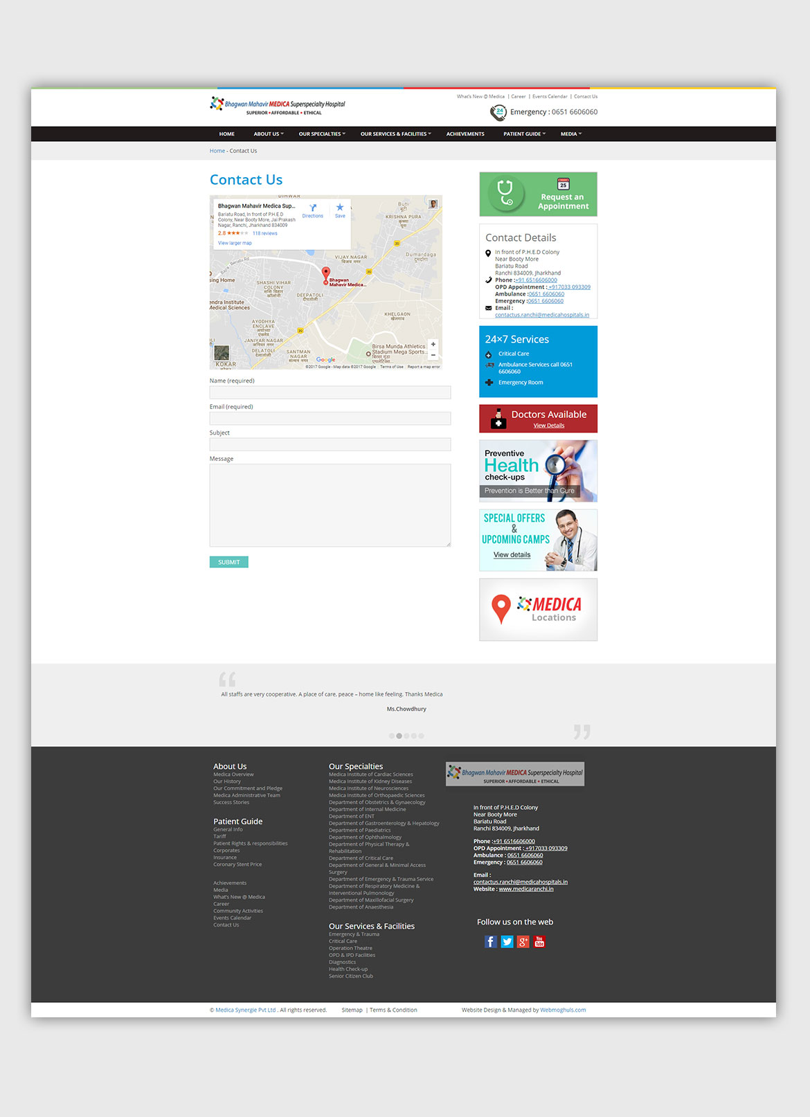 Responsive-Website-design-Development-hospital-contactUs